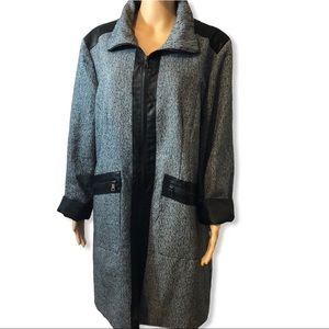 Harve Benard Tweed Dress Coat
